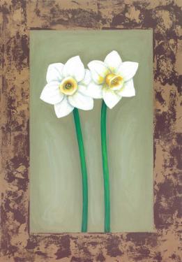 Flowers In Brown Frame III by Ferrer