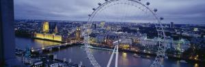 Ferris Wheel in a City, Millennium Wheel, London, England