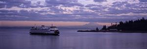Ferry in the Sea, Bainbridge Island, Seattle, Washington State, USA