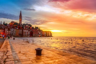 Beautiful Sunset at Rovinj in Adriatic Sea Coast of Croatia, Europe. this Image Make HDR Technique by Fesus Robert