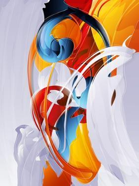 Abstract Graphic, Bright In Graffiti by fet