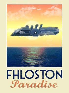 Fhloston Paradise Retro Travel Poster