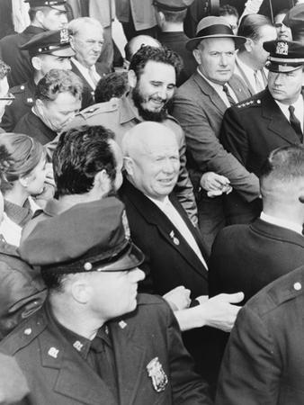 Fidel Castro and Nikita Khrushchev in New York for the General Assembly of the United Nations, 1960