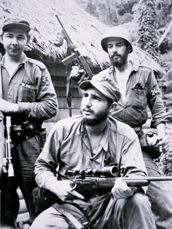 Fidel Castro in the Sierra Maestra Mountains, 1957