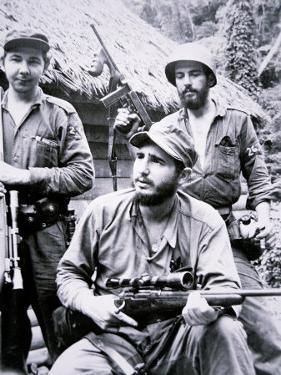 Fidel Castro in the Sierra Maestra Mountains, 1957