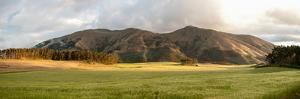Fields and hills late afternoon sunlight, Imbabura Province, Ecuador