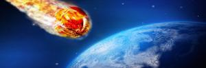 Fiery Comet Heading Towards the Earth