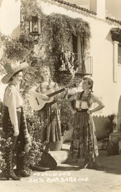 Fiesta Days, Women Singing, Santa Barbara, California