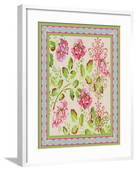 Fiesta Floral Tapestry-D-Jean Plout-Framed Giclee Print