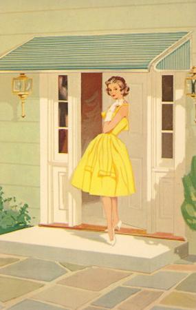 Fifties Yellow Dress