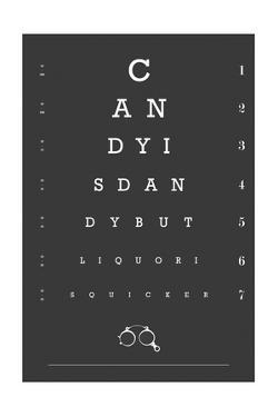 Eye Chart Candy by Fig & Melon Press
