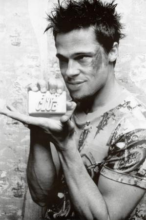 Fight Club Movie (Brad Pitt Holding Soap) Poster Print