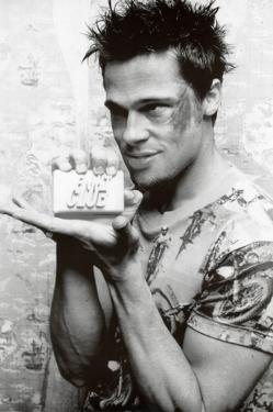 Fight Club Movie (Brad Pitt Holding Soap) Poster Print