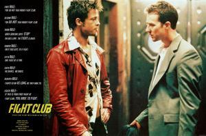 Fight Club Movie (Rules of Fight Club) Poster Print