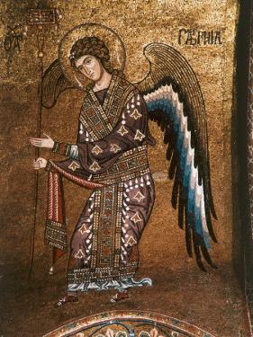 Figure of An Angel from 12th century Byzantine Mosaic on Cupola of the Martorana Church in Palermo