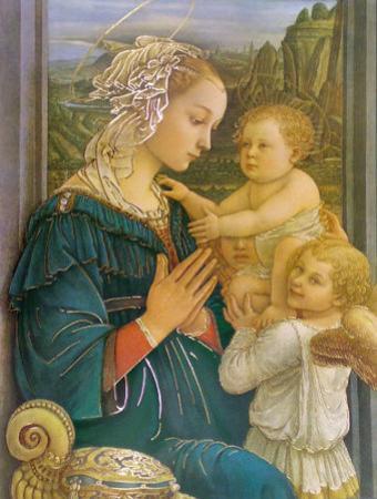 Virgin in Adoration by Filippino Lippi