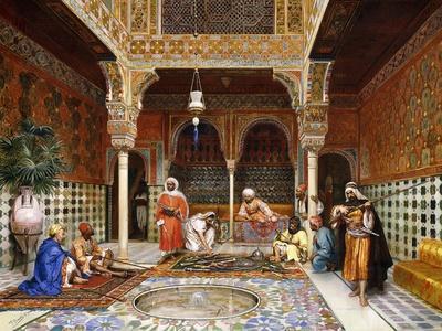Gunsmiths at the Palace of Alhambra, Granada, 1878