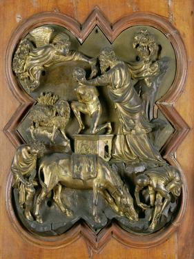 The Sacrifice of Isaac, Bronze Competition Relief for the Baptistry Doors, Florence, 1401 by Filippo Brunelleschi