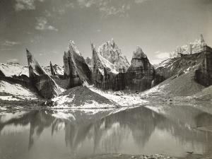 Ice-Needles and Pyramids of the Lower Remo Glacier, Kashmir, 1st January 1915 by Filippo di Filippa
