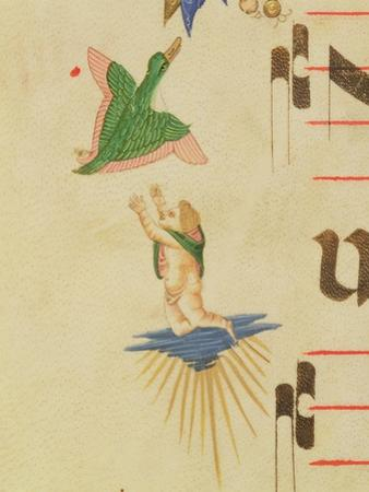 A Cloaked Cherub Trying to Catch a Flying Bird
