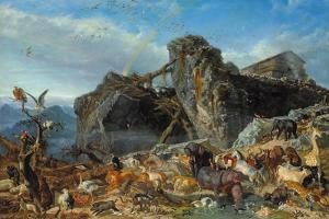 After the Flood: the Exit of Animals from the Ark, 1867 by Filippo Palizzi
