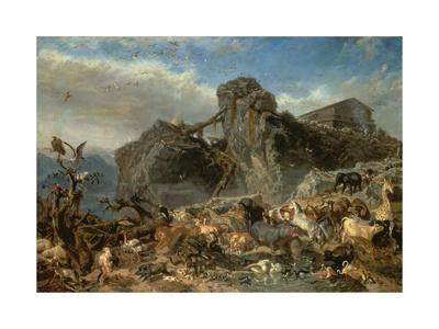 Animals Leaving the Ark, Mount Ararat