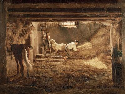 Inside One of the Barns, 1854