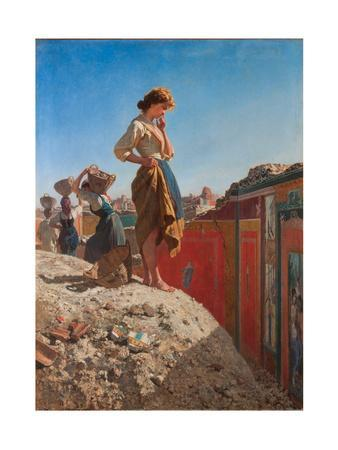 Maiden in the Excavations of Pompeii