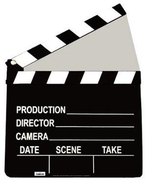 Film Clapper Cardboard Cutout