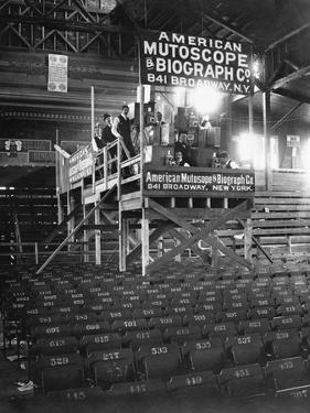 Film Crew in Coney Island Clubhouse