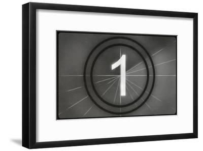 Film Leader #1--Framed Masterprint