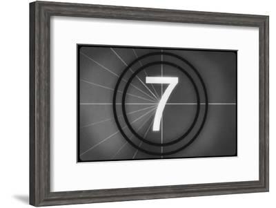 Film Leader #7--Framed Masterprint