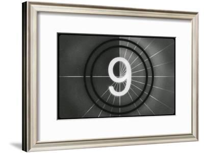 Film Leader #9--Framed Masterprint