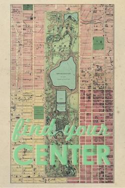 Find Your Center - 1867, New York City, Central Park Composite, New York, United States Map