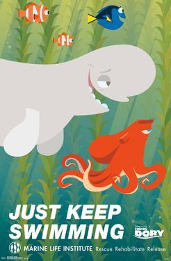 Finding Dory- Just Keep Swimming Deco