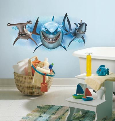 Finding Nemo Sharks Peel and Stick Giant Wall Decals