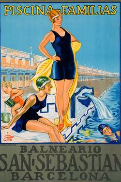 Balneario San Sebastian Barcelona Poster by Fine Art
