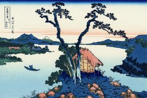 Lake Suwa in the Shinano Province by Katsushika Hokusai by Fine Art