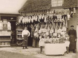 Fine Display of Meat Displayed Outside a Butcher's Shop