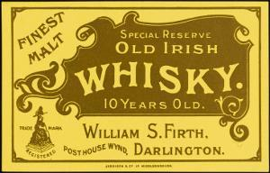 Finest Malt Old Irish Whisky Label