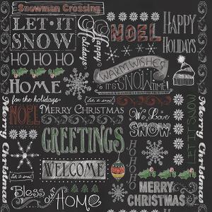 Chalk Christmas Patt by Fiona Stokes-Gilbert