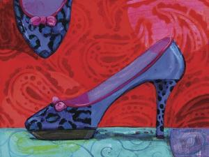 Shoe Blue Leopard by Fiona Stokes-Gilbert