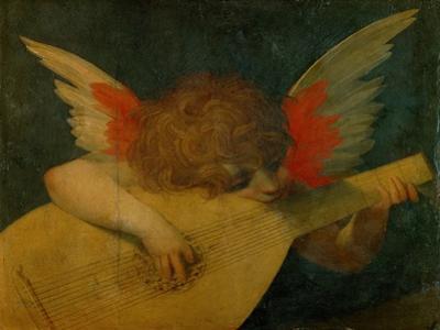 Cherub making music,1522 by Fiorentino Rosso