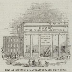 Fire at Goulston's Manufactory, Old Kent Road