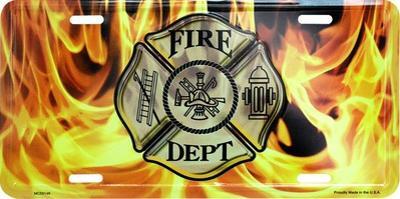 Fire Dept w/Flames