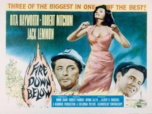 Fire Down Below, Robert Mitchum, Rita Hayworth, Jack Lemmon, 1957