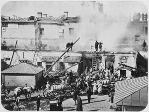 Fire in Moscow, Russia, 1872