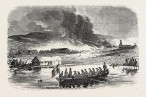 Fire of the Stores of Petropawloski, 1855