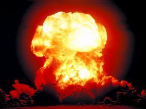 Fireball of H-Bomb Explosion after Test Blast over Bikini Atoll