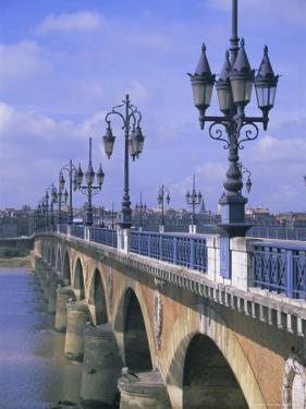 Pont De Pierre, Bordeaux, Gironde, France, Europe by Firecrest Pictures